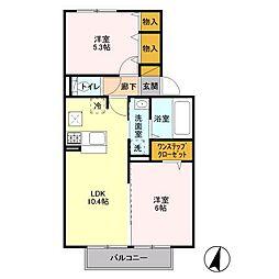 エトワール松戸A[1階]の間取り