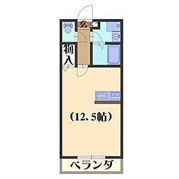 ヘーベルメゾンローリエ[1階]の間取り