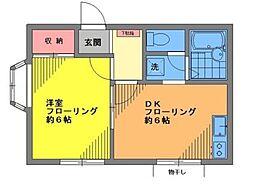 モンシャトー雪ヶ谷 bt[102kk号室]の間取り