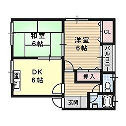 カワバタハウス[2階]の間取り