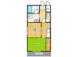 サンサーラ・タツミ[2階]の間取り