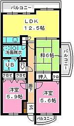 フォーレスト弐番館[5階]の間取り