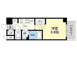 レシオス新大阪NORTH 3階1Kの間取り