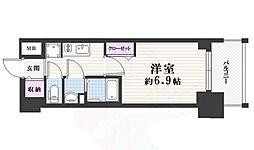 名古屋市営東山線 亀島駅 徒歩5分の賃貸マンション 12階1Kの間取り