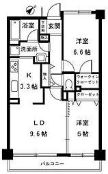 サザンコート[4階]の間取り