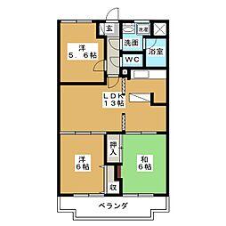 コンフォ・トゥールII[3階]の間取り