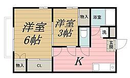 千葉県千葉市中央区本町2丁目の賃貸アパートの間取り