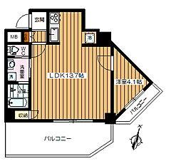 江古田サンライトマンション[502号室]の間取り