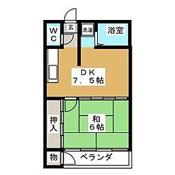 パークサイドA[1階]の間取り