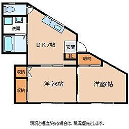 大田家ハイツ[3階]の間取り