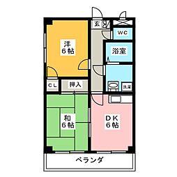 ソレイユケンワ[1階]の間取り