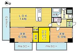 THE SQUARE・Club Residence (ザ・ス[701号室]の間取り