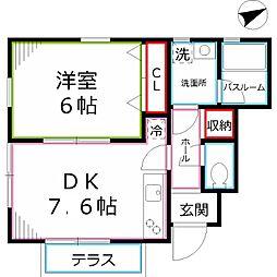 小金井レジデンツフィレンツェ[1階]の間取り
