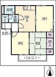 ディアス外神[2階]の間取り