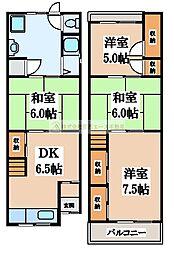 [一戸建] 大阪府堺市北区奥本町1丁 の賃貸【/】の間取り