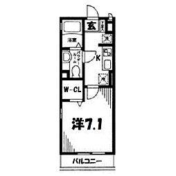 コンフォール横浜I[105号室]の間取り