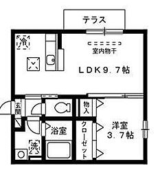 H2[203号室]の間取り
