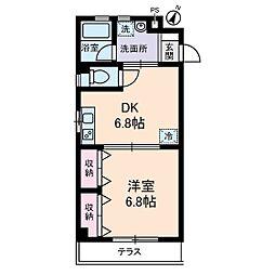 グランドール北上野[0102号室]の間取り