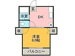 チェリーマンション[2-A号室]の間取り