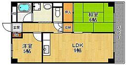西興第二マンション[506号室]の間取り