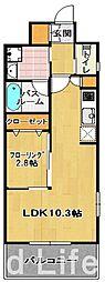 グランフォーレ ラグゼ 箱崎[13階]の間取り