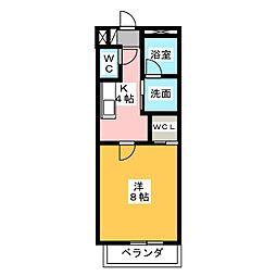 ブランシェ長田[2階]の間取り