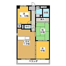 メゾンUI[4階]の間取り