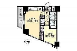 OYO LIFE #1439 スパシエ蒲田グランドタワー 2階1LDKの間取り