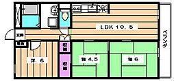 百合ヶ丘シャトー[4階]の間取り