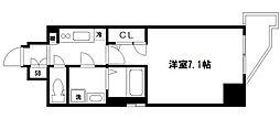 ララプレイス大阪福島ミラ 7階1Kの間取り