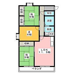 丸竹マンション[2階]の間取り