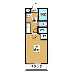 アークリード京都千本[1階]の間取り