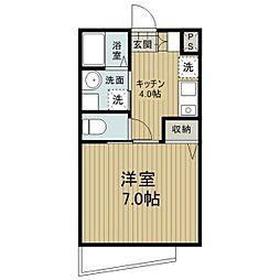 愛知県名古屋市中川区八田町の賃貸マンションの間取り