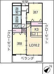 LandMark玉垣[2階]の間取り