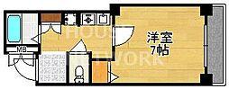 プレサンス京都二条城前[104号室号室]の間取り