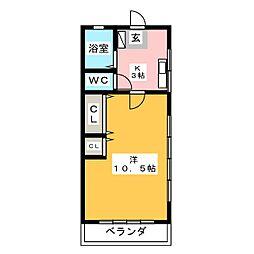 コーポアスペンA[2階]の間取り