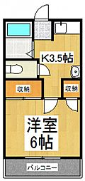 ヴィレッジ赤坂[1階]の間取り
