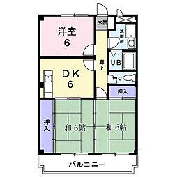 神奈川県平塚市東真土2丁目の賃貸マンションの間取り
