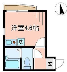 東京都大田区新蒲田2丁目の賃貸アパートの間取り