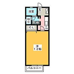 カーサフェリーチェ B棟[2階]の間取り