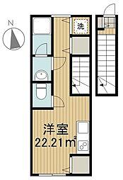 東京都西東京市柳沢6丁目の賃貸アパートの間取り