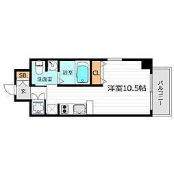マリス京橋WING[6階]の間取り