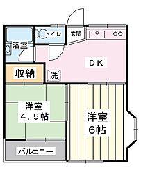 メゾン・ドゥ・トレド[1階]の間取り