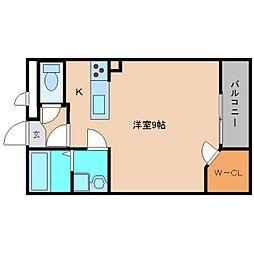 奈良県香芝市北今市2丁目の賃貸マンションの間取り
