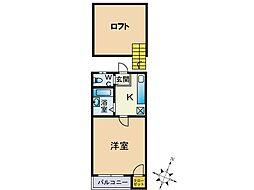 メゾンドカノン[1階]の間取り