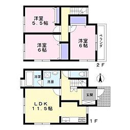 [テラスハウス] 東京都練馬区大泉学園町1丁目 の賃貸【/】の間取り
