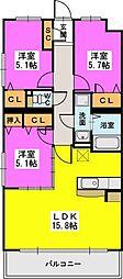 仮)プレアev武蔵3丁目[201号室]の間取り