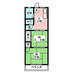 パステルII[2階]の間取り