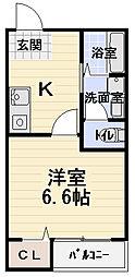 コンフォートチヒロ[401号室]の間取り