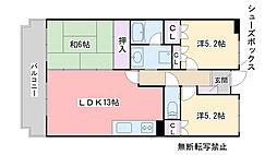 堀第2ビル[305号室]の間取り